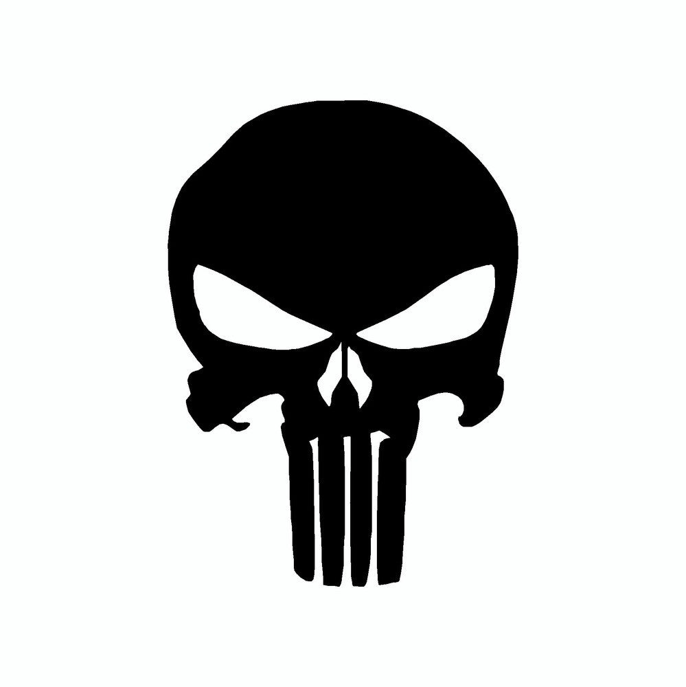 Punisher Skull Vinyl Car Sticker