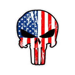 Punisher US American Flag Vinyl Car Sticker