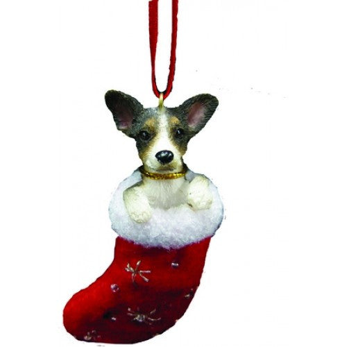 Santa's Little Pals Rat Terrier Dog Christmas Ornament