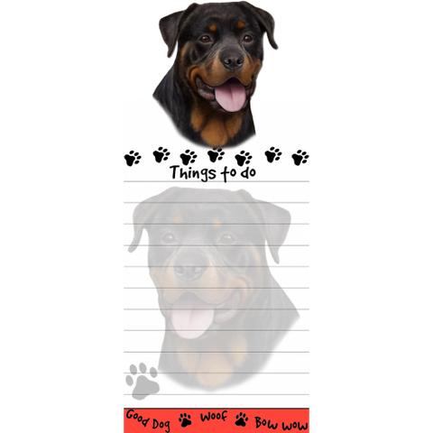 Rottweiler List Stationery Notepad