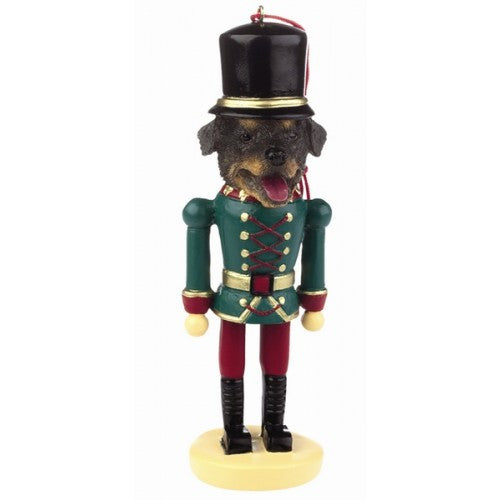 Rottweiler Dog Toy Soldier Nutcracker Christmas Ornament