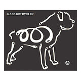K Line Rottweiler Dog Car Window Decal Tattoo