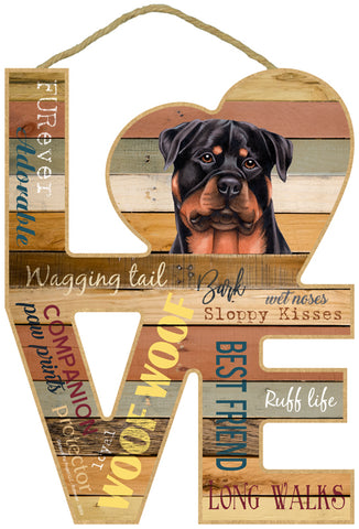 Rottweiler Love Sign