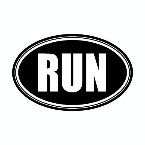 Run Black Marathon Vinyl Car Decal