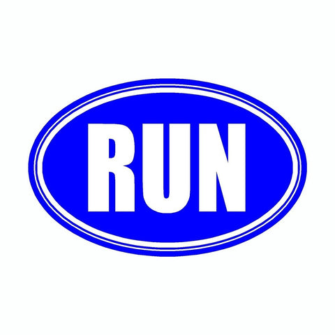 Run Blue Marathon Vinyl Car Decal