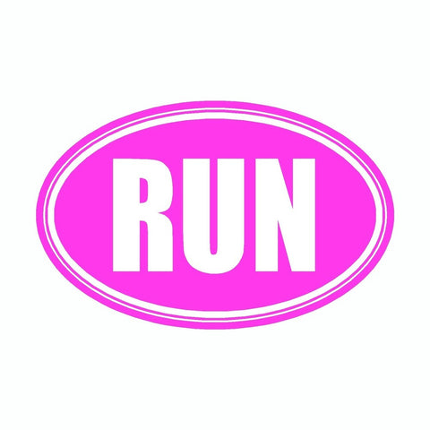 Run Pink Marathon Vinyl Car Decal