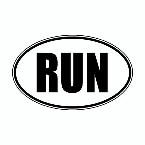 Run White Marathon Vinyl Car Decal