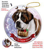 Saint Bernard Howliday Dog Christmas Ornament