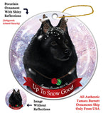 Schipperke Howliday Dog Christmas Ornament