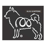 K Line Schipperke Dog Car Window Decal Tattoo