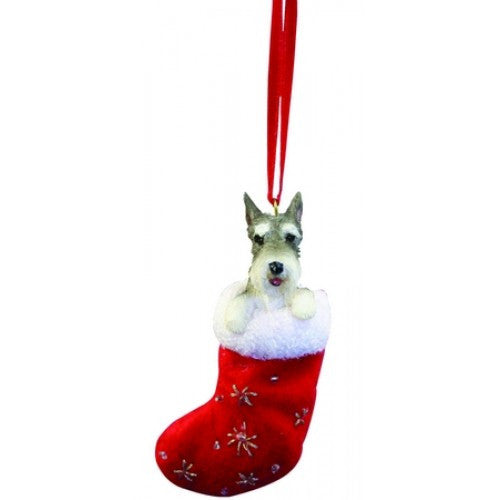 Santa's Little Pals Schnauzer Christmas Ornament