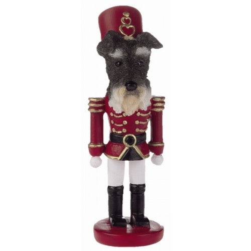 Schnauzer Uncropped Dog Toy Soldier Nutcracker Christmas Ornament