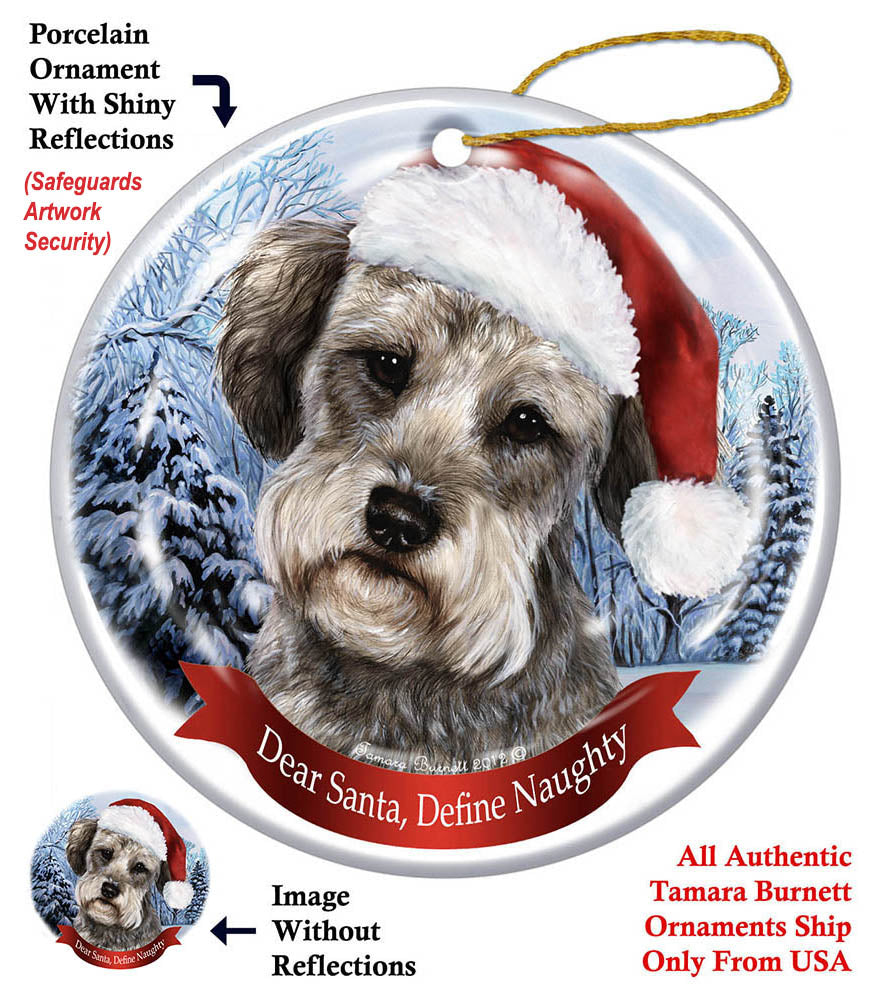 Schnoodle Howliday Dog Christmas Ornament