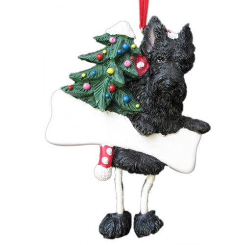 Dangling Leg Scottish Terrier Scottie Dog Christmas Ornament