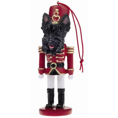Scottish Terrier Dog Toy Soldier Nutcracker Christmas Ornament