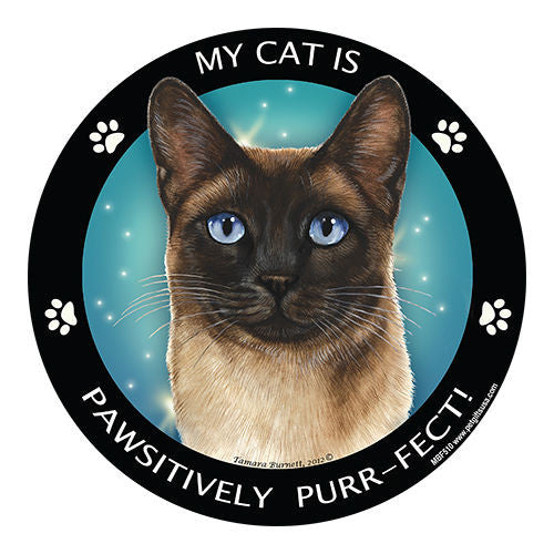 Seal Point Siamese Cat My Best Friend Dog Breed Magnet