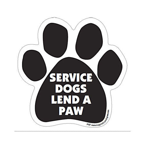 Service Dogs Lend A Paw Dog Paw Magnet