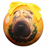 Shar Pei Shatterproof Dog Breed Christmas Ornament