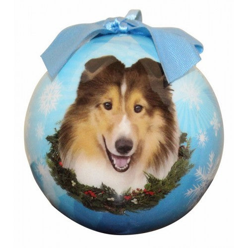Sheltie Shatterproof Dog Breed Christmas Ornament
