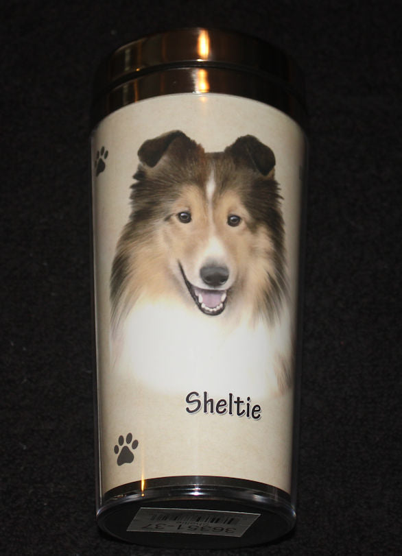 Sheltie Stainless Steel Travel Tumbler