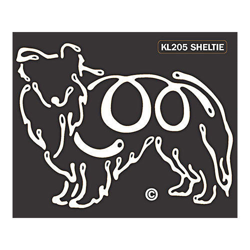 K Line Sheltie Dog Car Window Decal Tattoo