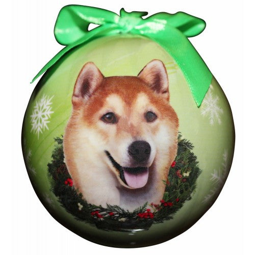 Shiba Inu Shatterproof Dog Breed Christmas Ornament