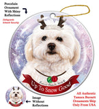 Shih Poo Howliday Dog Christmas Ornament