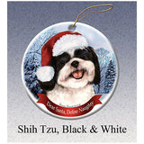 Shih Tzu Black Howliday Dog Christmas Ornament