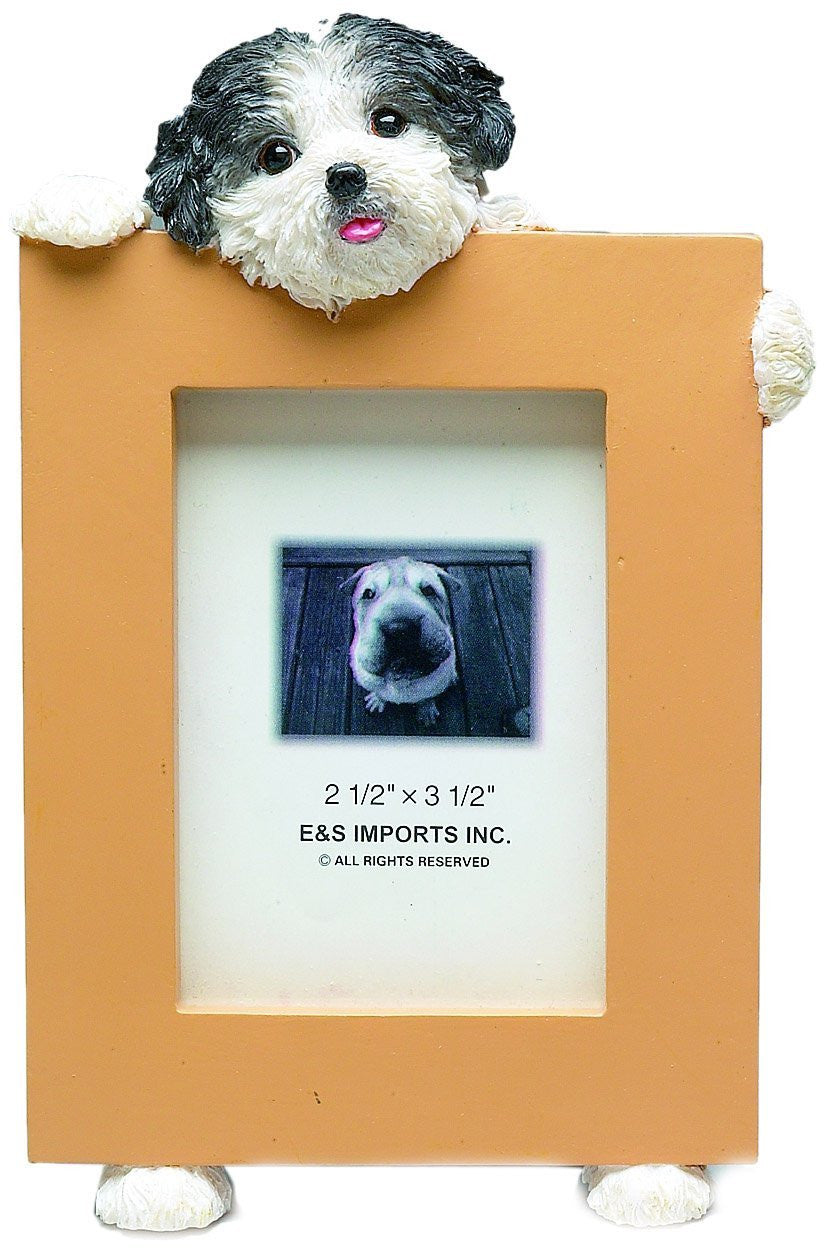 Shih Tzu Black Puppy Dog Picture Frame Holder