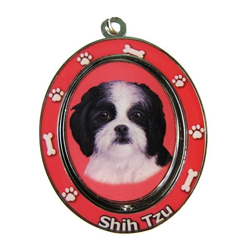 Shih Tzu Black Puppy Dog Spinning Keychain
