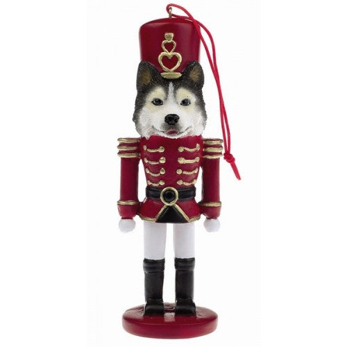 Siberian Husky Dog Toy Soldier Nutcracker Christmas Ornament