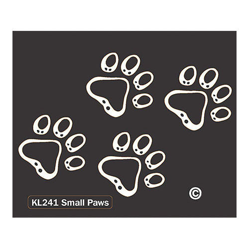 K Line Small Paws Car Window Tattoo Decal