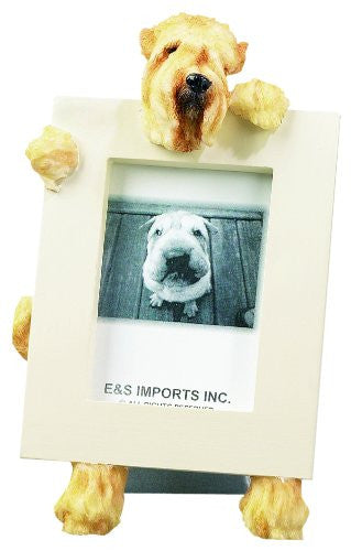 Soft Coated Wheaten Terrier Dog Picture Frame Holder