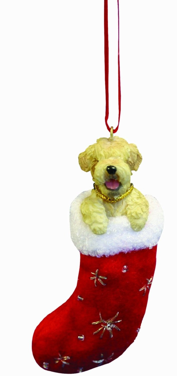 Santa's Little Pals Soft Coated Wheaten Terrier Dog Christmas Ornament