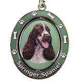 Springer Spaniel Dog Spinning Keychain