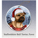 Staffordshire Bull Terrier Howliday Dog Christmas Ornament