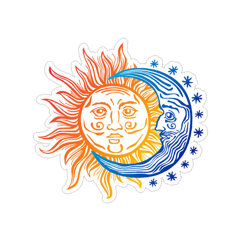 Sun and Moon Circle of Life Vinyl Sticker