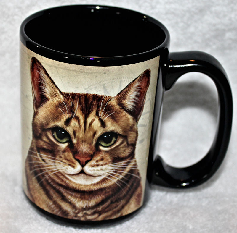 Faithful Friends Tabby Orange Cat Dog Breed Coffee Mug