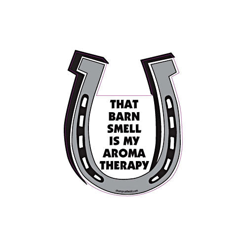 That Barn Smell Is My Aromatherapy Chompin' Horseshoe Magnet