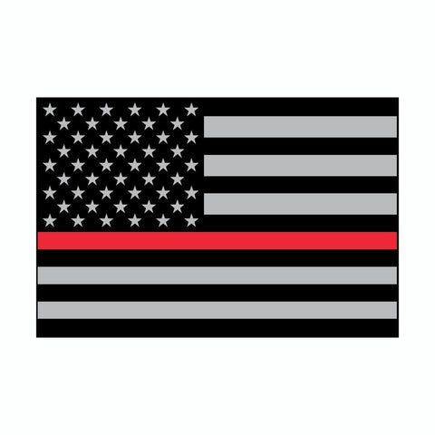 Thin Red Line US American Flag Support Firefighters Vinyl Car Sticker