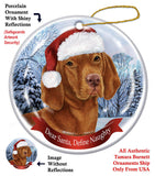 Vizsla Howliday Dog Christmas Ornament
