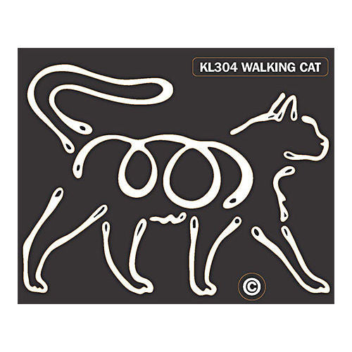 K Line Walking Cat Car Window Decal Tattoo