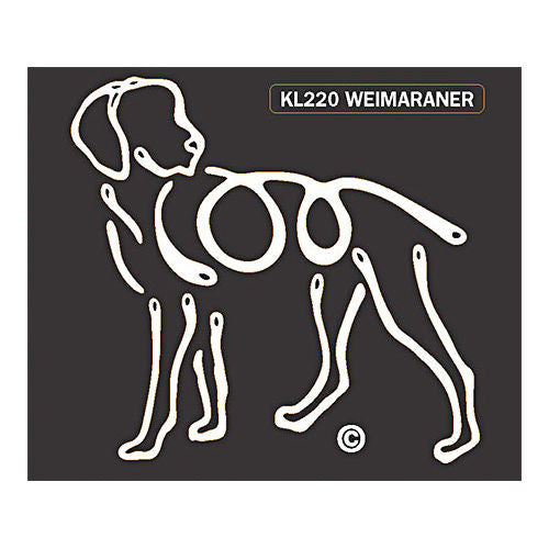 K Line Weimaraner Dog Car Window Decal Tattoo