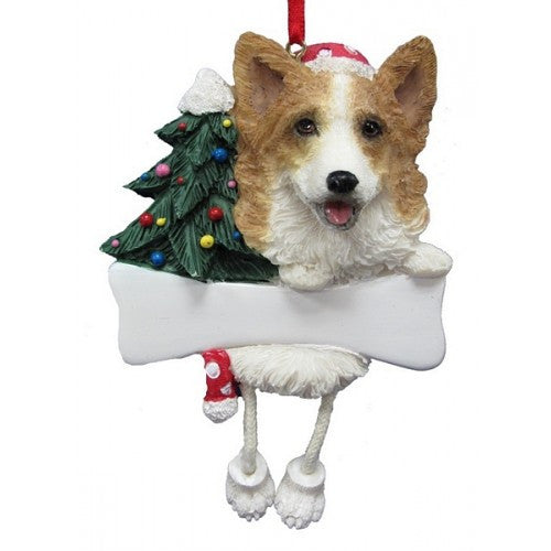 Dangling Leg Welsh Corgi Christmas Ornament