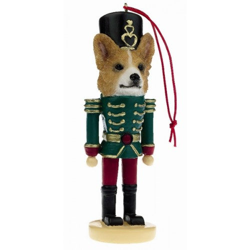 Welsh Corgi Dog Toy Soldier Nutcracker Christmas Ornament