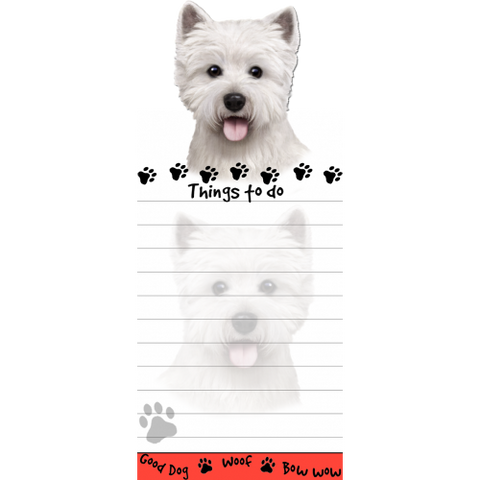 West Highland Terrier Westie List Stationery Notepad