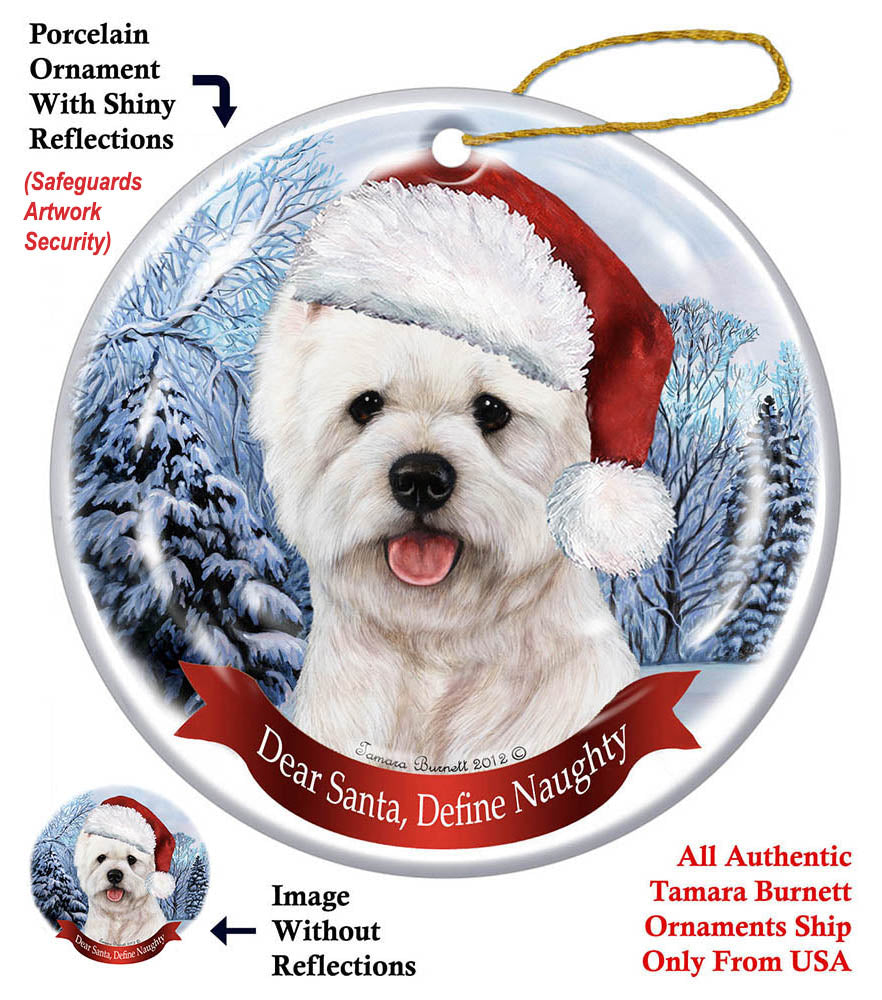 West Highland Terrier Westie Howliday Dog Christmas Ornament