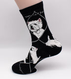 West Highland Terrier Westie Dog Breed Novelty Socks