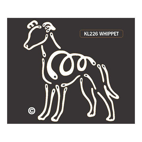 K Line Whippet Dog Car Window Decal Tattoo
