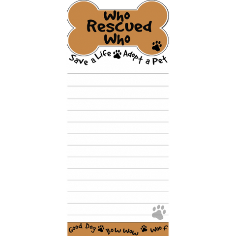 Who Rescued Who List Stationery Notepad